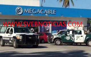Roban en Megacable de avenida Diaz Mirón esta madrugada en Veracruz