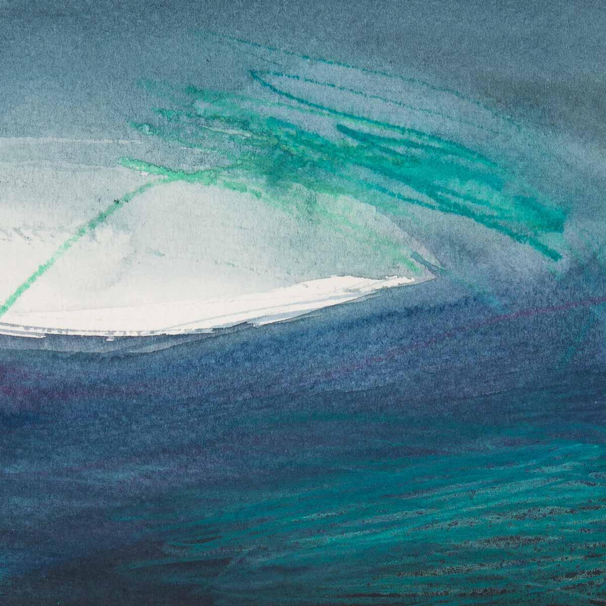 10 x 10 cm, aquarelle et crayons sur papier, 4 nov 14