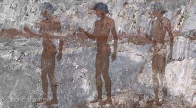 fresques rupestres, Afrique, grottes,