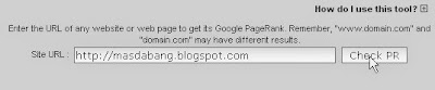 Cara Pasang Widget Google Page Rank