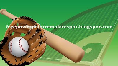 baseball themed powerpoint template for sport presentation, Modern powerpoint