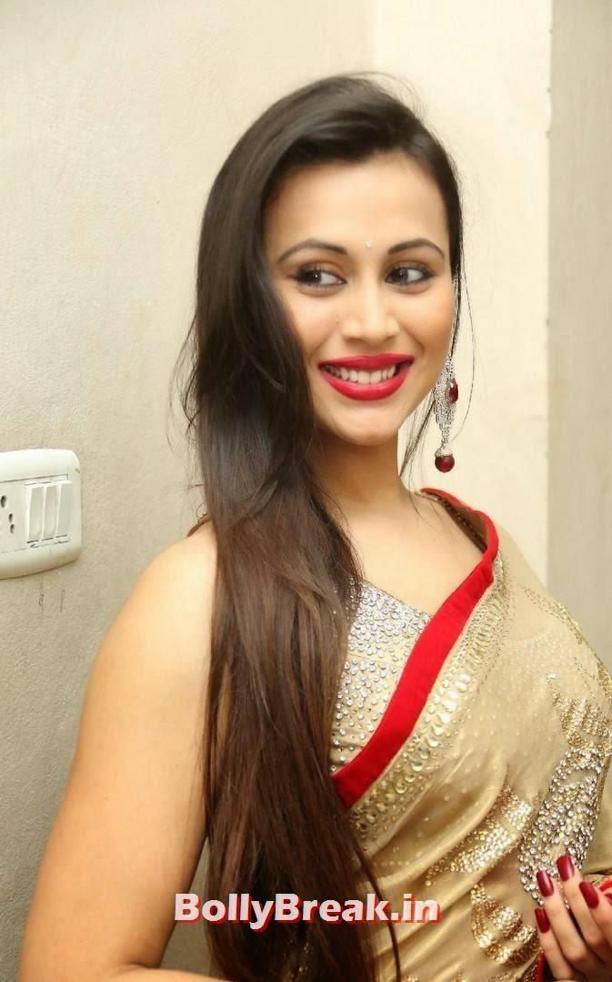 Charlotte Claire hot saree, Very Hot Images of Tamil Actress in Backless Blouse & Saree with Long hair