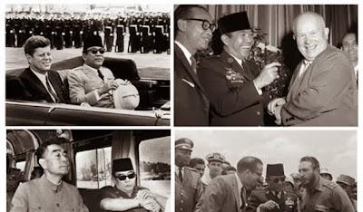 Soekarno bersama petinggi negara lain