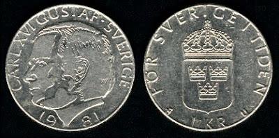 Sweden 1 Krona (1976-1981)
