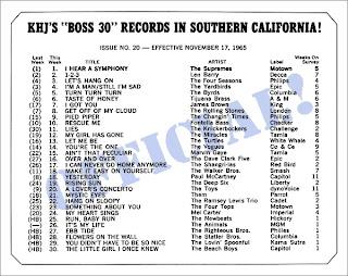 KHJ Boss 30 No. 20 - November 17, 1965