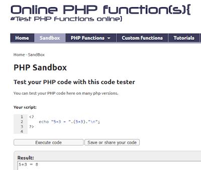 Come testare il php online