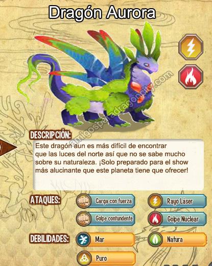 imagen del dragon aurora y sus caracteristicas
