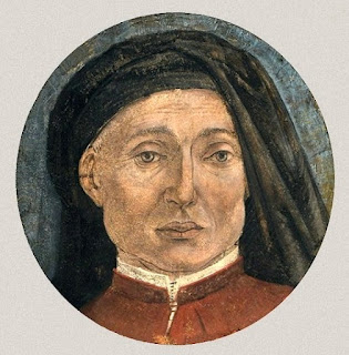 A self-portrait of Alesso Baldovinetti from a fragment of damaged fresco, now in the Accademia Carrara in Bergamo