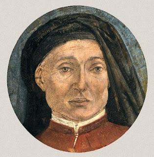 A self-portrait of Alesso Baldovinetti from a fragment of damaged fresco, now in the Accademia Carrara in Bergamo