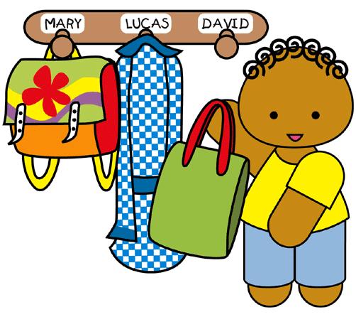 Niño colgando su mochila