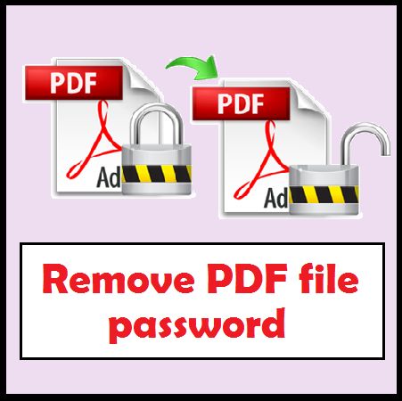 How To Remove Pdf Password Protection