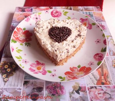 Cheesecake con ricotta e gocce di cioccolato