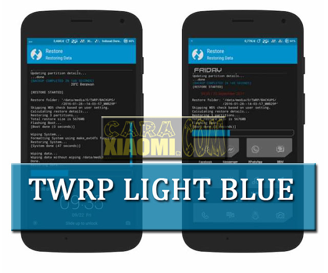 Tema Xiaomi TWRP Light Blue Mtz For MIUI by Arif Setyawan