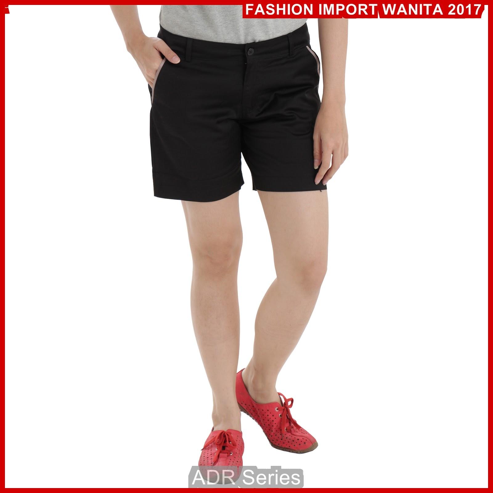 ADR127 Celana Wanita Hitam Pendek Hotpant Import