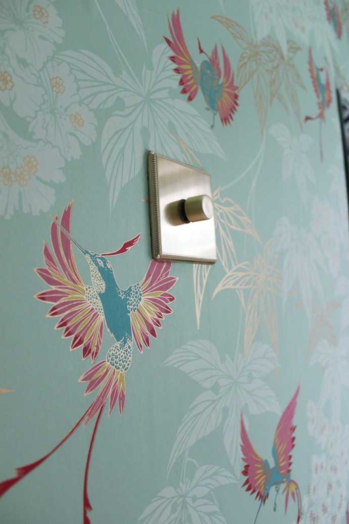 Check out my grand dressing room reveal including the wallpaper I chose to add the finishing touches!