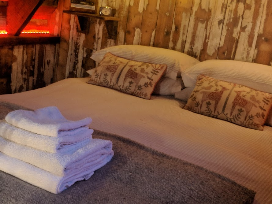 Experience Northumberland's Dark Skies with a Stay at Hesleyside Huts  - rowan hut towels