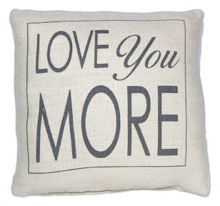 Love you More Pillow Cover featured on Walking on Sunshine.