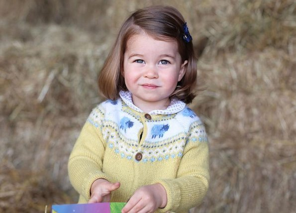 Princess Charlotte wore John Lewis Fair Isle Pattern Jumper. Prince William and Duchess Catherine. Kate Middleton, Prince George