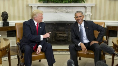 Photos from Obama & Trump's White House meeting the internet never showed you