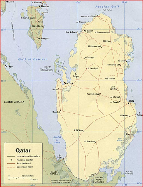 Gambar Peta politik Qatar