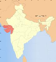 Gujarat locator map