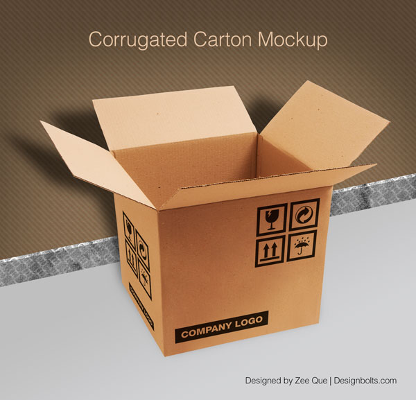 Carton Box Packaging Mock-up PSD