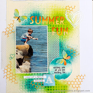 Layers of ink - Scrapbooking Layout Tutorial by Anna-Karin Evaldsson