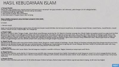 Kehidupan Masa Praaksara Hindu Budha dan Islam di Indonesia di Berbagai Bidang