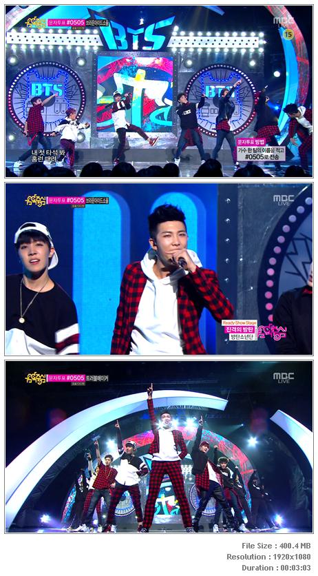 PERF] BTS - The Rise Of Bangtan (131109 MBC Music Core) - HD Hallyu