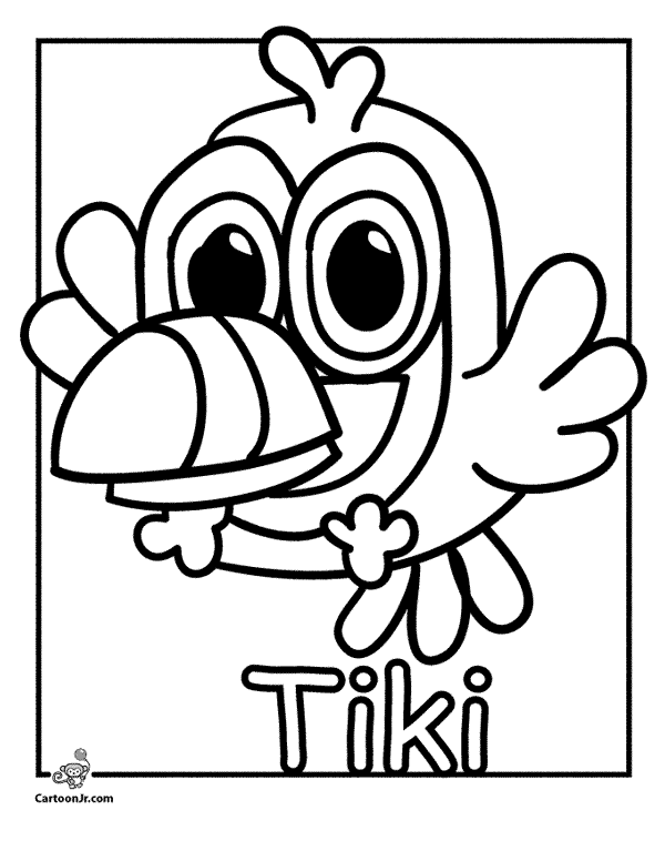 Tiki moshi monsters cake ideas and designs for Moshi monsters coloring pages