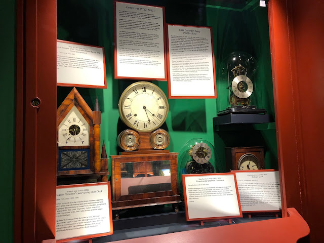 Early American made clocks at Halim Time and Glass Museum