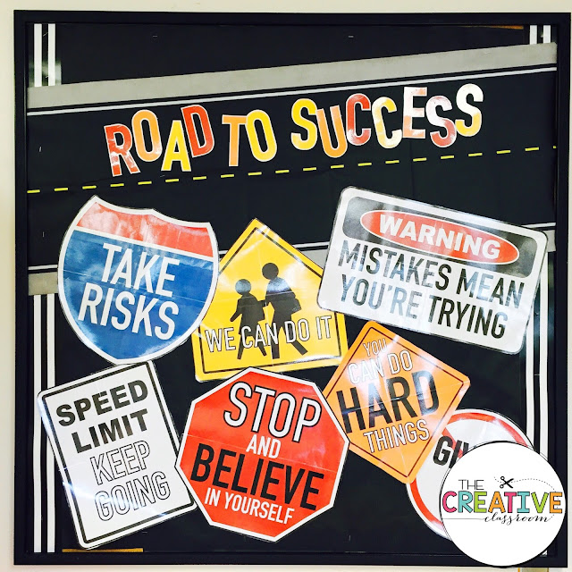 These street sign posters are perfect for growth mindset in the classroom. The posters are easy to print and beautiful for any classroom bulletin board.