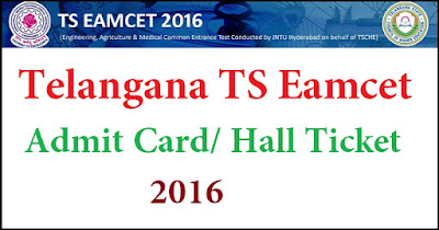 TS (Telangana) EAMCET 2016 Hall Tickets Download from Tomarrow @ www.tseamcet.in