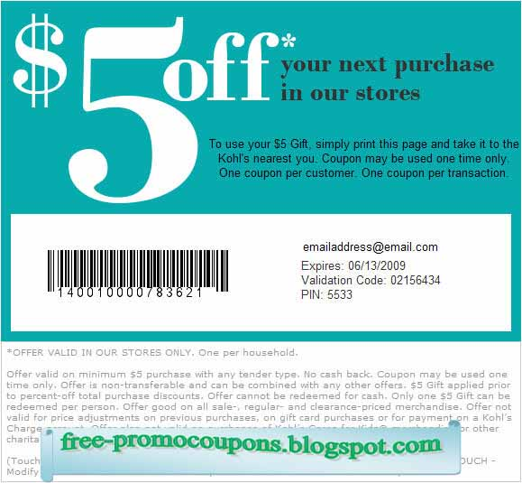 Kohls online coupon april 2018
