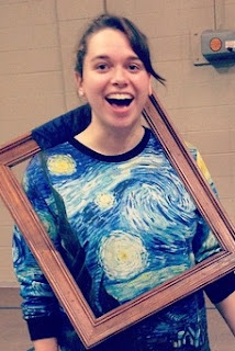 girl with Starry Night shirt