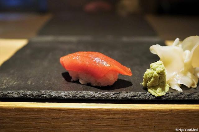 Bluefin Tuna Sushi at DOMODOMO in New York City