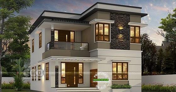 1600 sq-ft 4 bedroom modern flat roof house - Kerala home ...