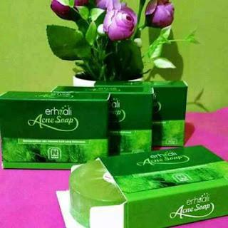 Khasiat dan manfaat erhsali anti soap acne clear