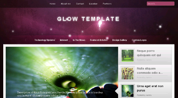 Glow - Free Premium Blogger Template