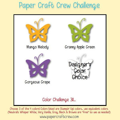 Paper Craft Crew Colour Challenge and Inspiration #PCC311
