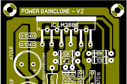 PCB Layout Power amplifier Gain Clone LM 3886