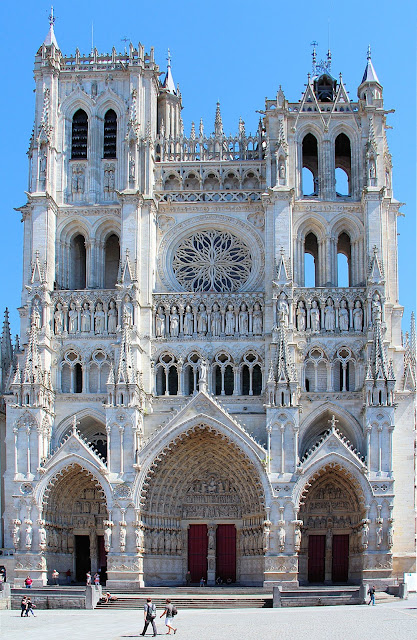 Notre Dame de Amiens Cathedral fell victim to the wars and while most of its stained-glass windows were destroyed, this 13th-century cathedral retains its title as France's tallest and largest. Plus it bears a striking resemblance to Notre Dame in Paris. Photo: WikiMedia.org.