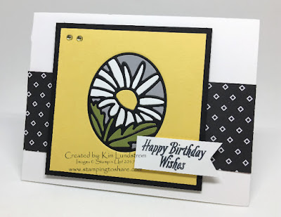 Stampin' Up! Timeless Tags Spring Birthday Card Paper Piecing Stamping to Share