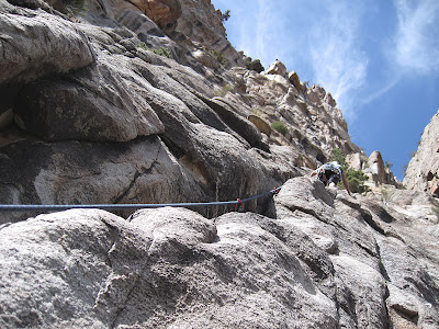 trad climbing in Unaweep