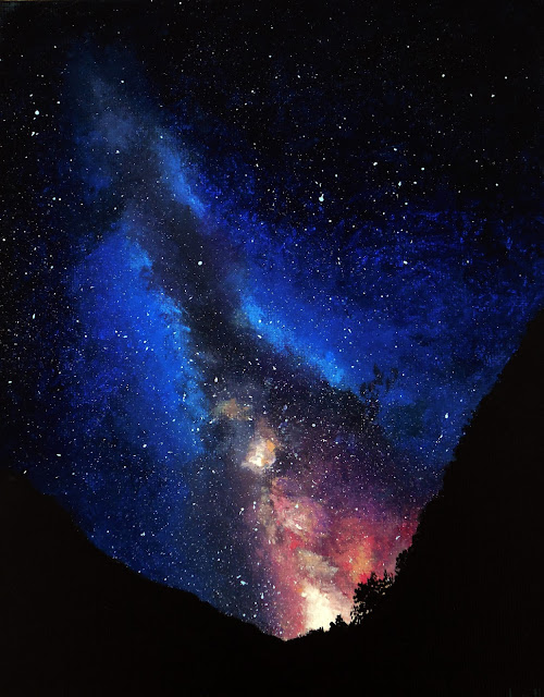 galaxy painting acrylic