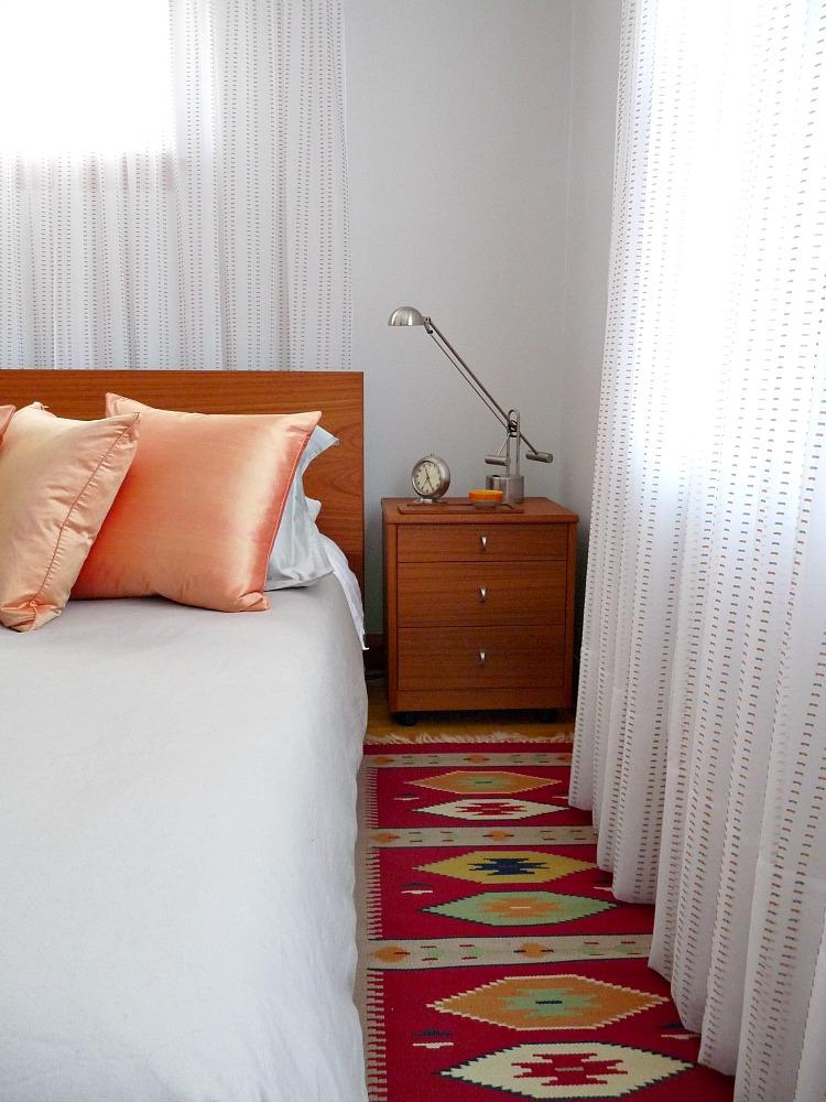 Bedroom with teak furniture
