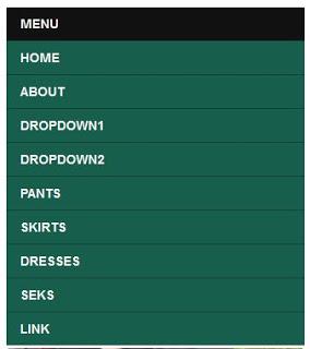 Menu drop down responsive Untuk Blogger
