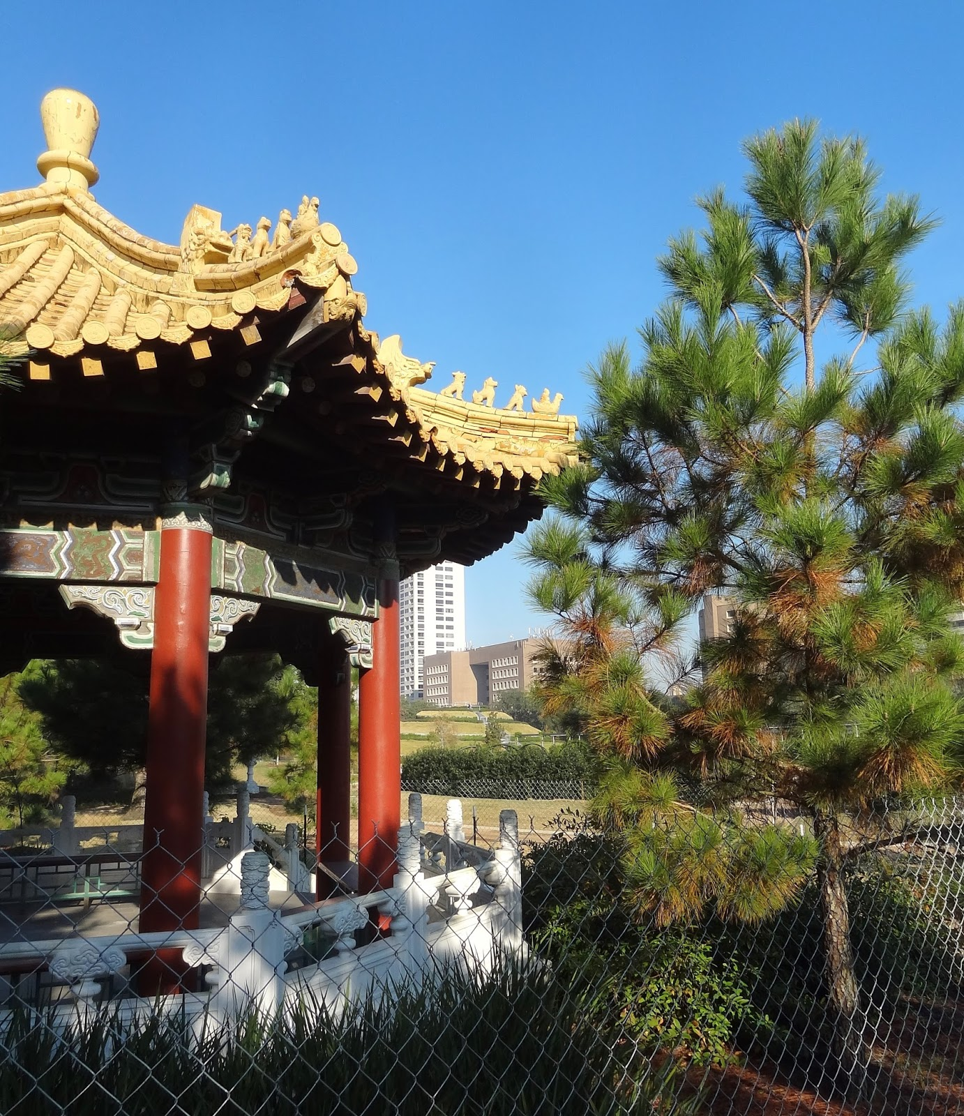 Chinese Pavilion In Hermann Park
