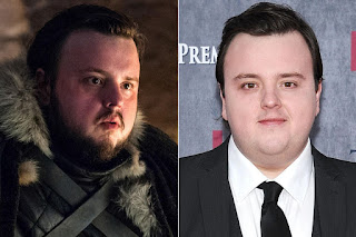 Game of Thrones actors with and without their beards,Samwell Tarly / John Bradley