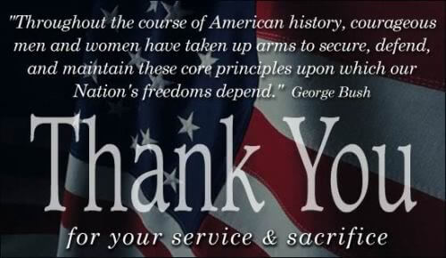 Memorial day thankyou quotes